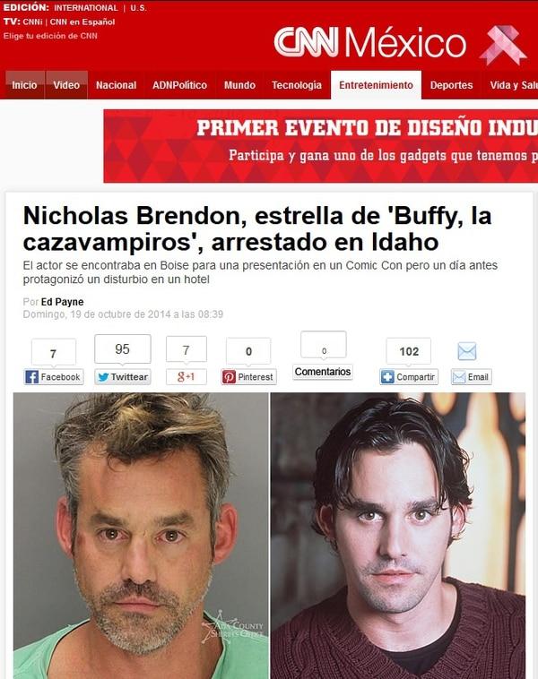 La página web de CNN México informó del arresto y publicó fotos del artista.