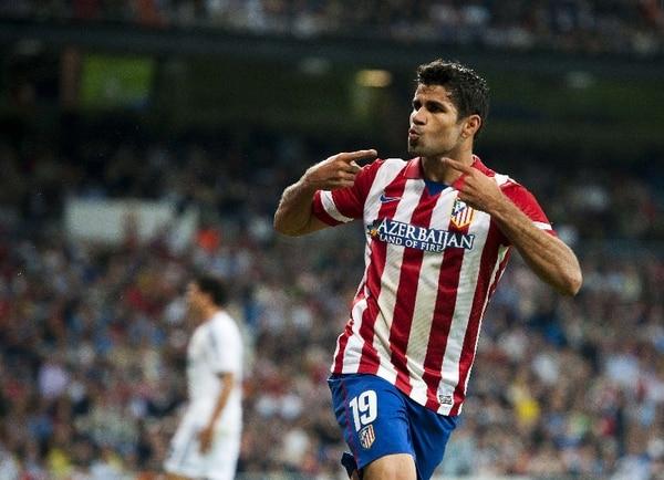 Diego Costa marcó el único gol de la victoria del Atlético de Madrid sobre el Real Madrid. | AFP