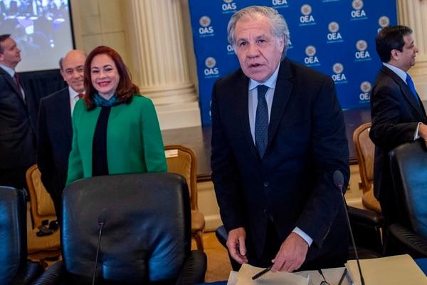 Luis Almagro y María Fernanda Espinosa presentaron sus propuestas para la Secretaría General de la OEA el 12 de febrero del 2020 en Washington.