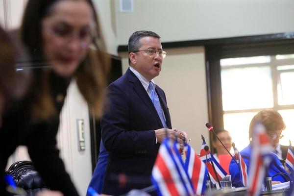 El diputado Pedro Muñoz, del PUSC, fue el proponente de la moción. Foto: Rafael Pacheco