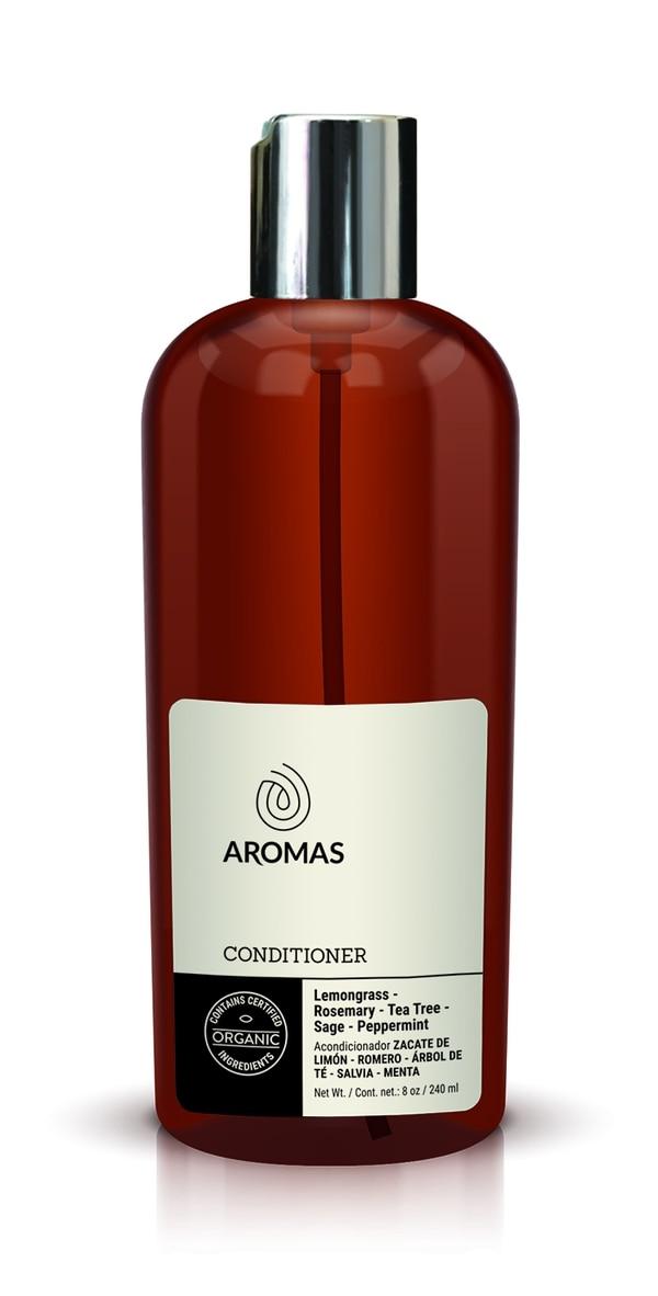 Acondicionador para cabello con zacate de limón, romero, árbol de té, salvia y menta. Aromas