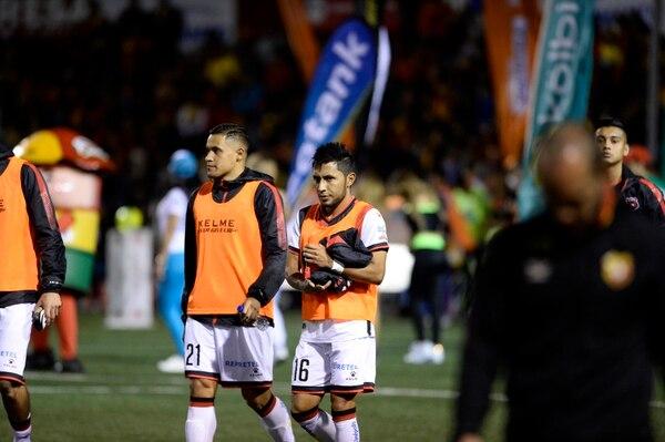 Róger Rojas (21) fue suplente e ingresó en el minuto 83, sustituyendo a Alex López. Fotografía: Diana Méndez.