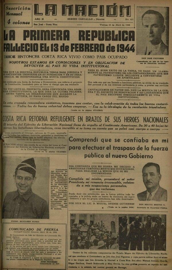 En una entrevista con La Nación, Figueres Ferrer denunció las tensiones que llevaron al combate militar.
