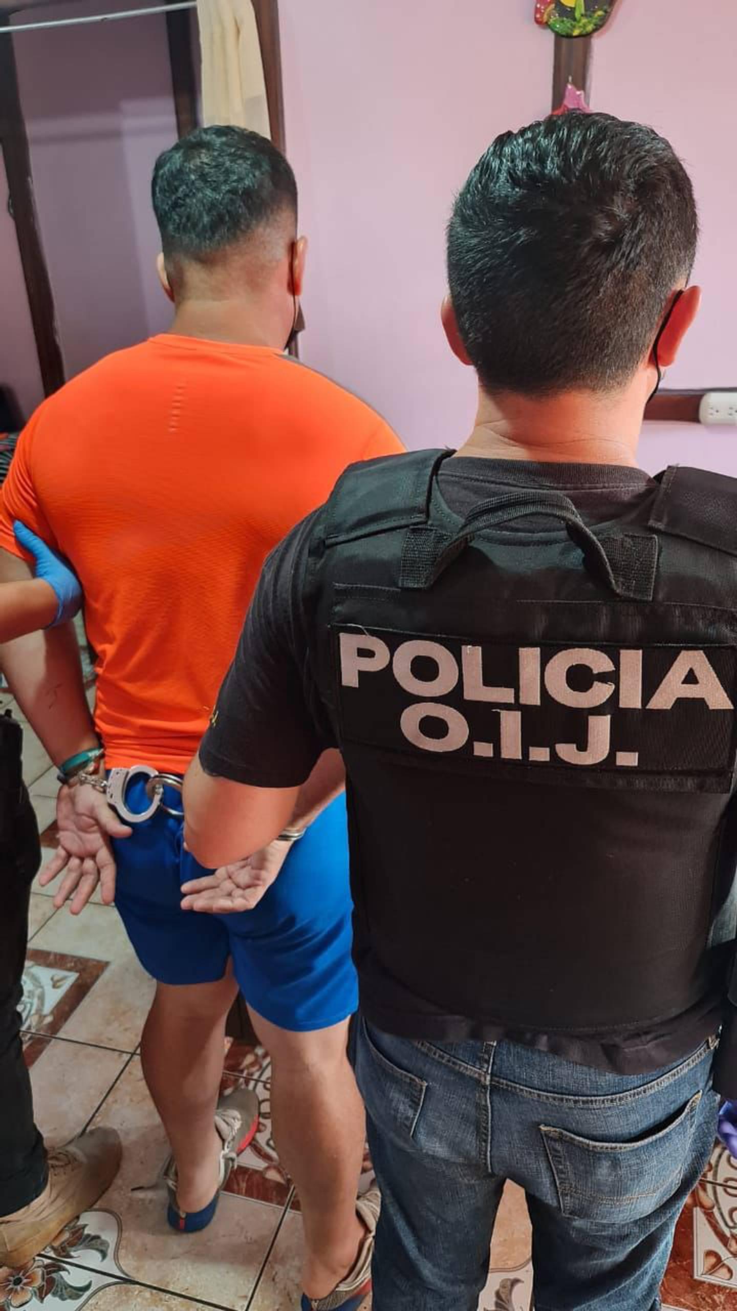 Se logró detener a 17 personas relacionadas con esta agrupación en Osa, Corredores, Guanacaste, Pérez Zeledón y Limón, entre otros.  Foto: Cortesía OIJ.