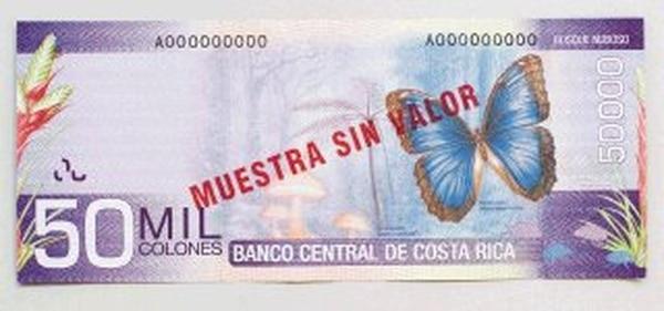 Los diferentes bancos comerciales del país pidieron al Banco Central 65.000 fórmulas de los billetes de ¢50.000. | CARLOS GONZáLEZ