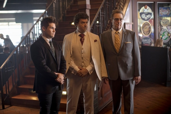 Los actores Adam Devine, Danny McBride y John Goodman interpretan a tres de los personajes principales de la comedia 'The Righteous Gemstones'. Fotografía: HBO para La Nación