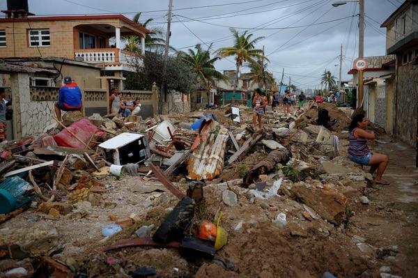 El huracán Irma causó gran destrucción en el pueblo pesquero de Cojimar.