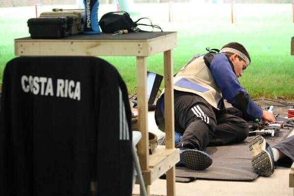El costarricense Roberto Chamberlain durante su prueba en los Juegos Panamericanos 2015.