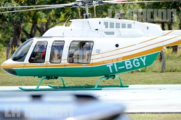En el helicóptero van Corey Gamble, novio de Kris Jenner, Khloe Kardashian y Kylie Jenner. Diana Méndez para LN