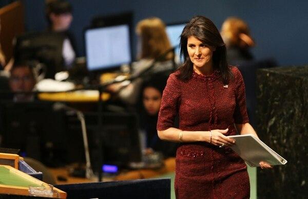 La embajadora estadounidense en la ONU, Nikki Haley, defendió discutir en el Consejo de Seguridad de la ONU la crisis política de Nicaragua.