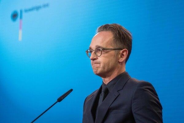 El ministro de Relaciones Exteriores alemán, Heiko Maas, participa en una conferencia de prensa, el 2 de setiembre del 2020, en Berlín. Foto: AFP