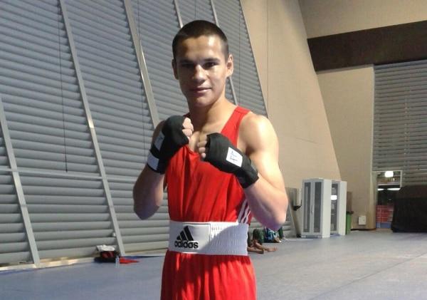 David Jiménez antes de su debut en el Mundial de Boxeo en Catar.