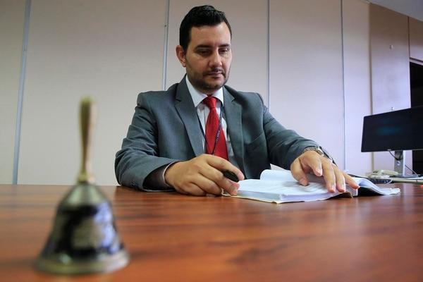 Carlos Sánchez, ocupa el cargo en el Juzgado de Familia de Goicoechea. Foto: Rafael Pacheco