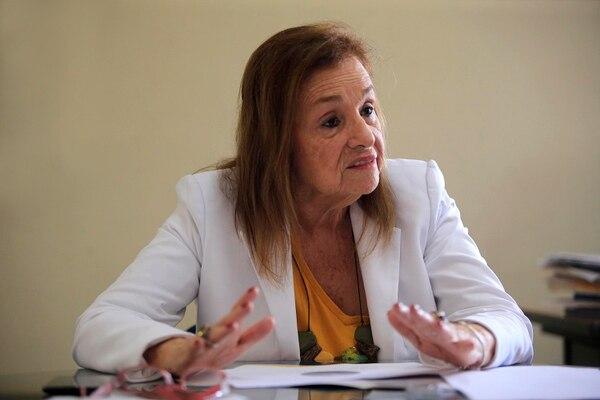 Con 86 años, Teresita Aguilar asumió hace casi dos años la presidencia del Consejo Nacional de la Persona Adulta Mayor (Conapam). Foto: Rafael Pacheco