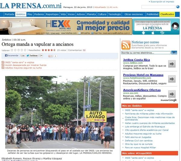 Diferentes medios de comunicación de Nicaragua señalan al Gobierno de Daniel Ortega como culpable de las agresiones