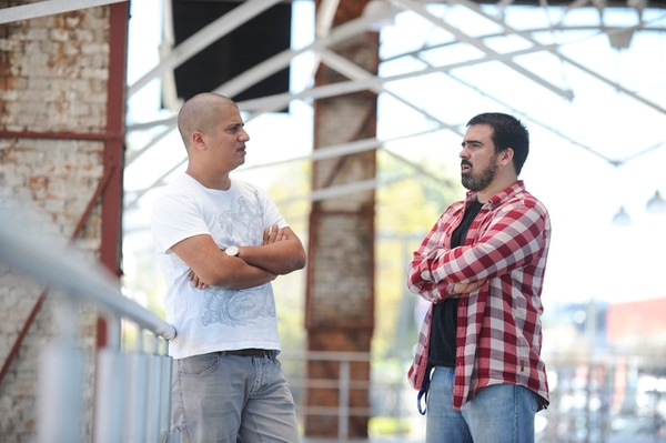 Alfredo Enciso y Paco Cervilla son socios en Pupila, un estudio de diseño multidisciplinar.   FOTO: JORGE NAVARRO