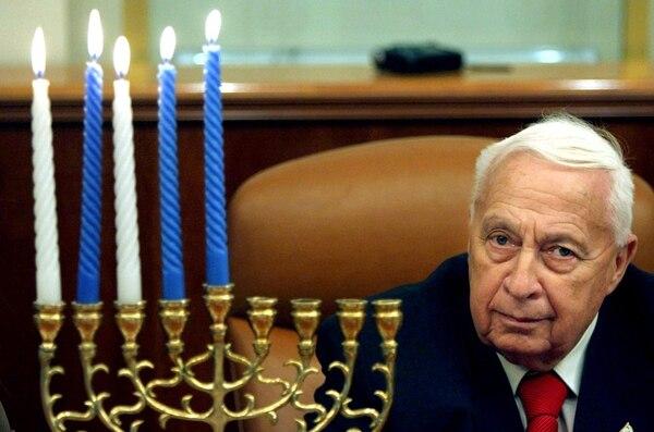 Foto del exministro de Israel, Ariel Sharon, tomada en el 2005