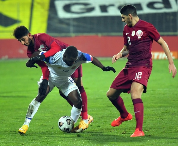 Joel Campbell fue el mejor jugador de la Selección en el partido contra Catar. Fotografía: AFP