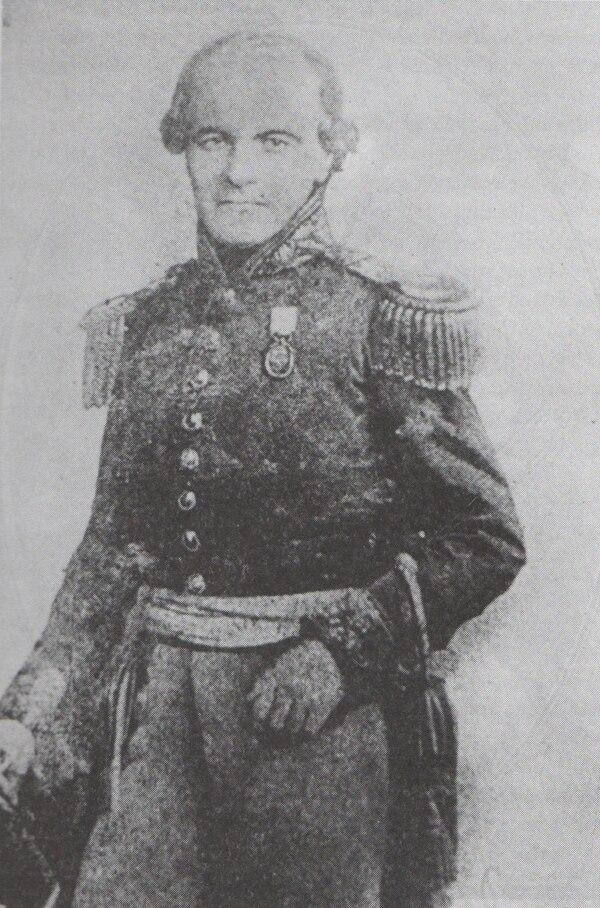José Eufrasio Guzmán fue presidente de El Salvador del 15 de febrero de 1845 al 1.° de febrero de 1846. Esta imagen se encuentra en el libro: 'David J. Guzmán. Obras Escogidas'.