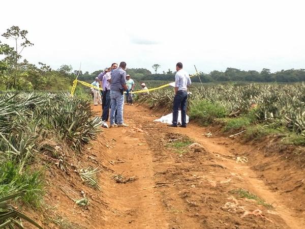 El OIJ levantó el cuerpo sin vida del peón la tarde de ayer. Foto: Réiner Montero