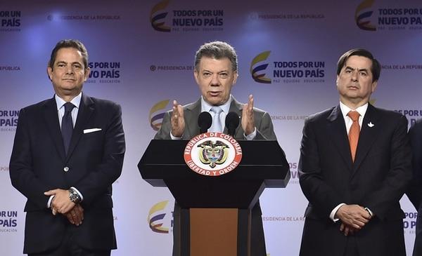 Santos pidió redoblar las acciones militares contra el ELN.   EFE