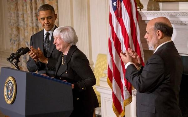 Janet Yellen relevará a Ben Bernanke. Ella aún no ha sido ratificada. En octubre, Barack Obama la eligió para el cargo. | DOUG MILLS/THE NEW YORK TIMES