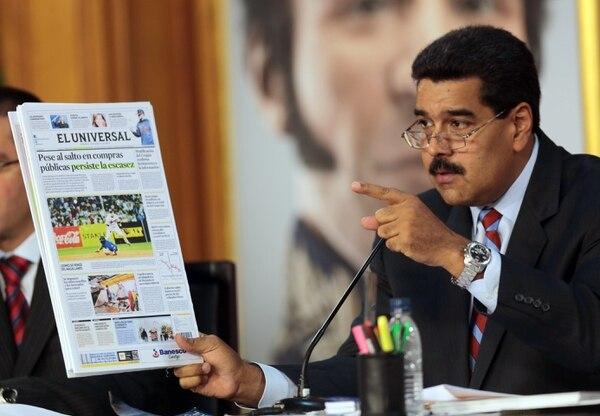 El presidente de Venezuela, Nicolás Maduro, puso en práctica una serie de medidas para evitar el desabastecimiento de víveres y enseres domésticos.