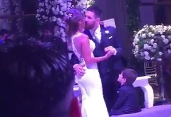 Messi se casó este viernes 30 de junio.