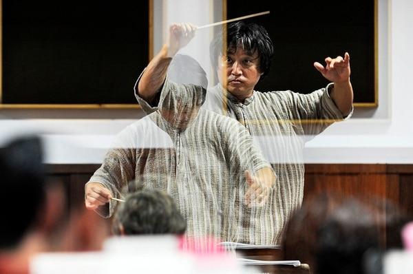 Ocupado. Tras su salida de la Sinfónica, Komatsu ha dirigido grupos de Europa, Asia y Estados Unidos. Jorge Navarro
