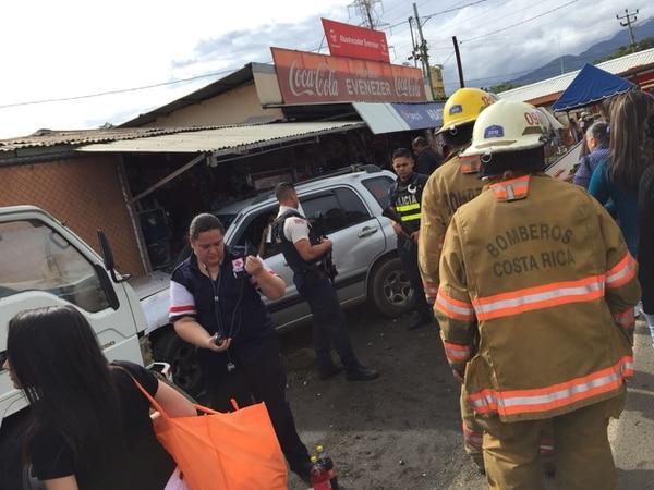 Los heridos fueron trasladados al Hospital San Rafael de Alajuela. Foto: Cortesía