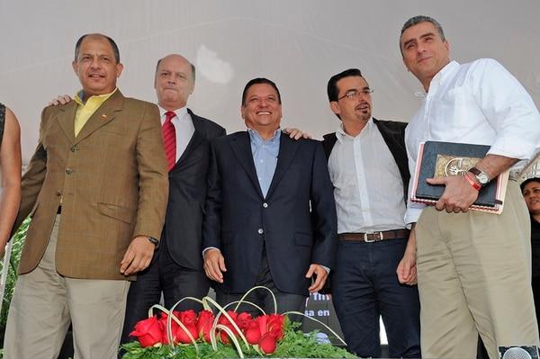 Candidatos durante un debate en octubre del 2013.   ALBERT MARÍN