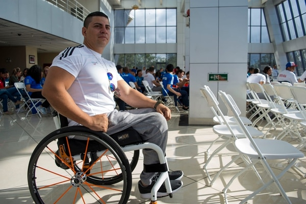 Sergio Muñoz Gutiérrez, representante costarricense en la disciplina de powerlifting. Foto: David Vargas/ AGENCIA OJO POR OJO.