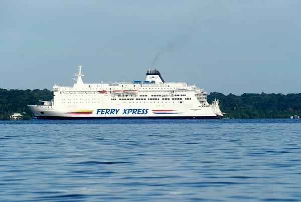 Así luce el Ferry Xpress a la distancia. ALONSO TENORIO