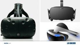 Tres cascos compiten por el dominio de la realidad virtual
