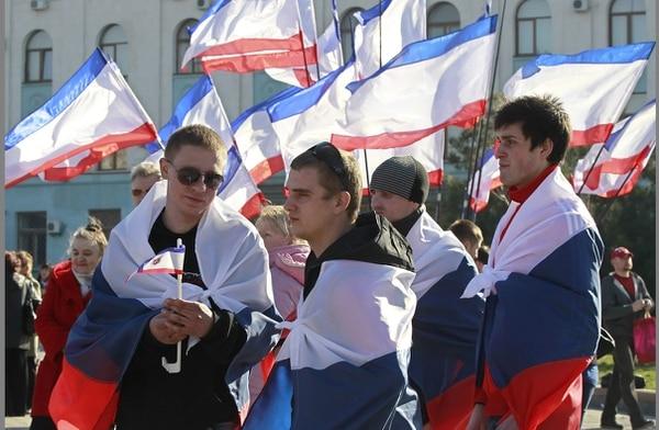 Mitin en Crimea durante la jornada de reflexión previa al referéndum