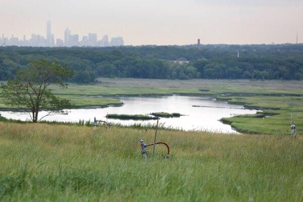 Donde otrora la metrópoli descargó basura maloliente de forma masiva está en la actualidad el Parque Fresh Kills, en el condado de Staten Island. El parque está en camino de ser declarado el mayor proyecto de conversión de basural a parque del planeta. Acá los sistemas de control de gases.