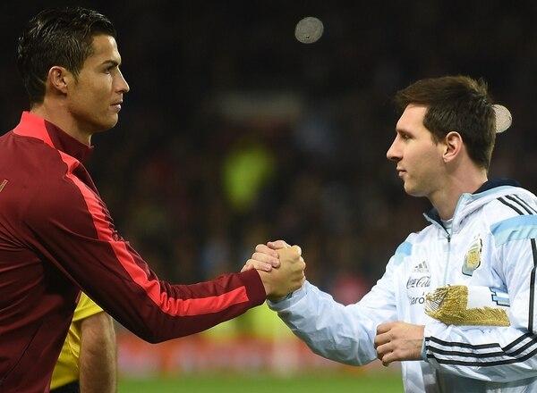 Cristiano Ronaldo y Lionel Messi protagonizaron el encuentro más atractivo del amistoso entre Portugal y Argentina. Foto: AFP