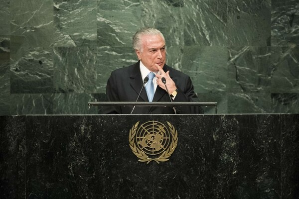 El presidente de Brasil, Michel Temer, pronunció el jueves pasado un discurso durante la novena Conferencia de Oportunidades J.P. Morgan Brasil, en la ciudad de Sao Paulo, que se lleva a cabo cada año