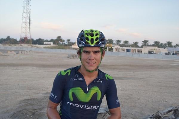 Después de la competencia, Andrey Amador se tomó una fotografía en una de las áridas zonas de Catar. | WWW.ANDREYAMADOR.COM