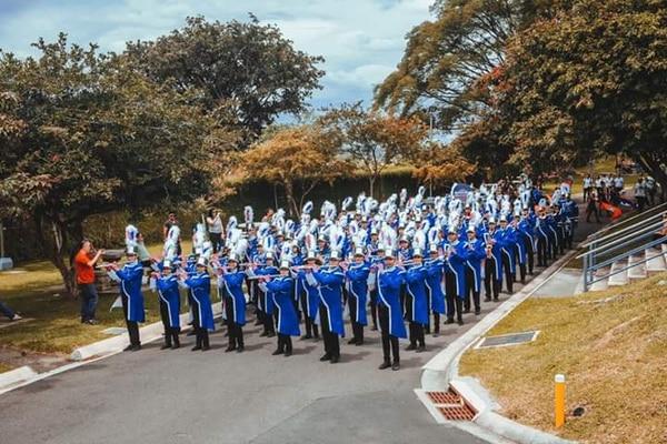 En pleno, la Banda de Marcha Municipal SINEM Nicoya. Cortesía de Jorge Luis Guevara