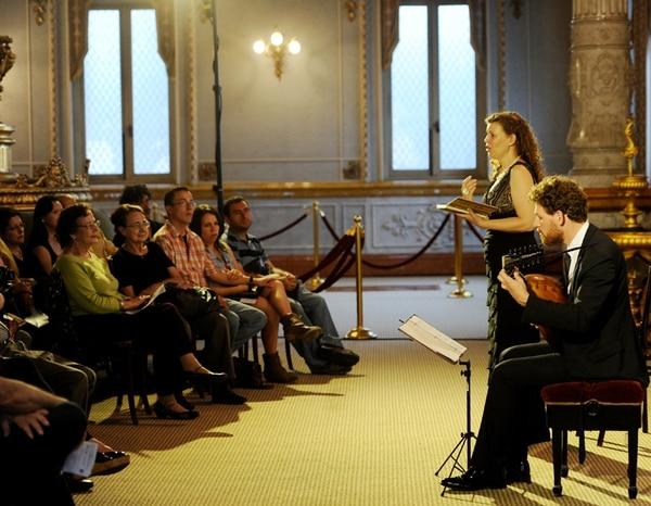 Encantadores. El talento de Jolle Greenleaf y Hank Heijink fue alabado por el público. Marcela Bertozzi.