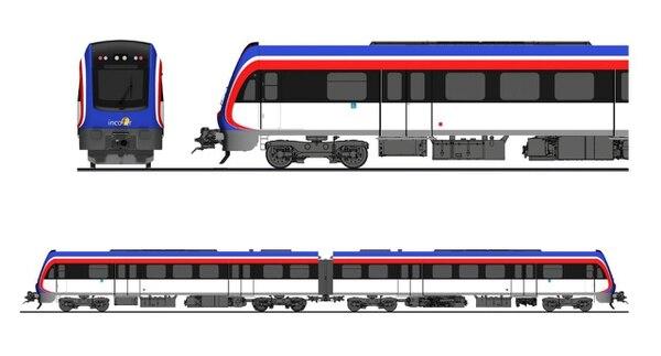 Además del azul caraterístico de las locomotoras del Incofer, las nuevas unidades incorporarán el blanco y el rojo. La carrocería de estos trenes está diseñada para resistir 30 años. Imagen: Incofer