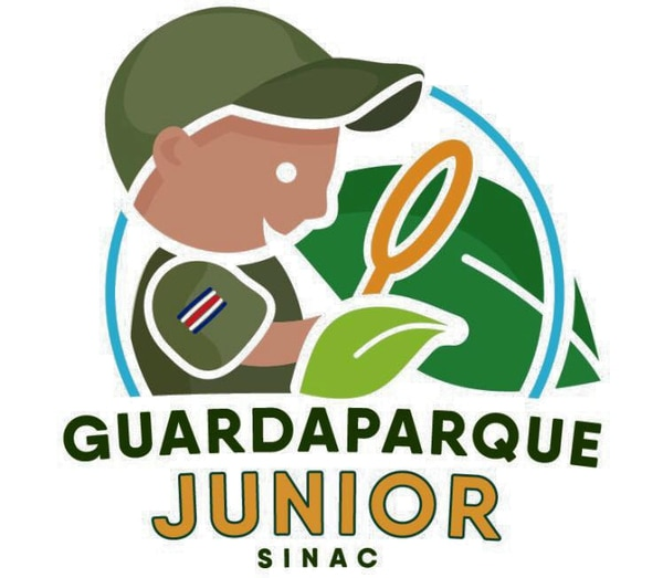 Esta es la insignia que ganan los niños y jóvenes cuando concluyen el primer nivel de Guardaparque Junior.