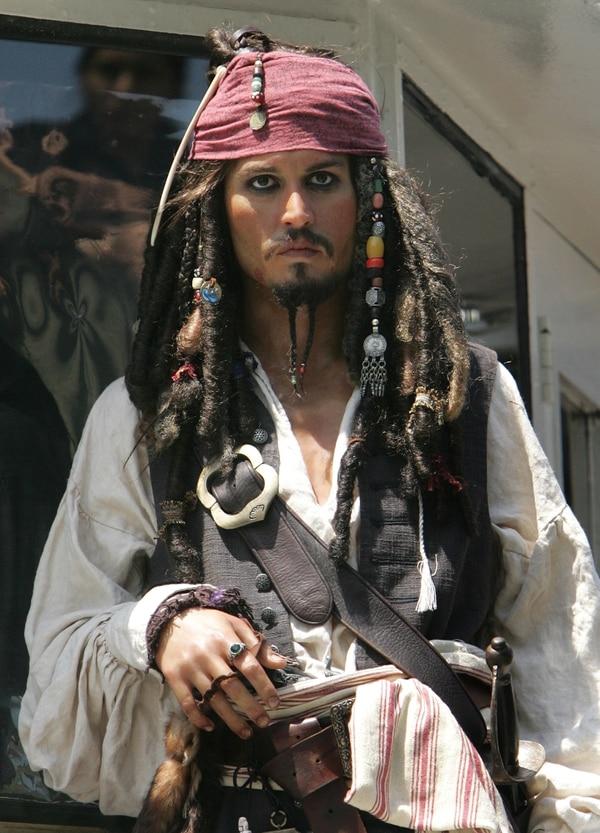 Johnny Depp dio vida a Jack Sparrow en cinco oportunidades. Foto: AFP.