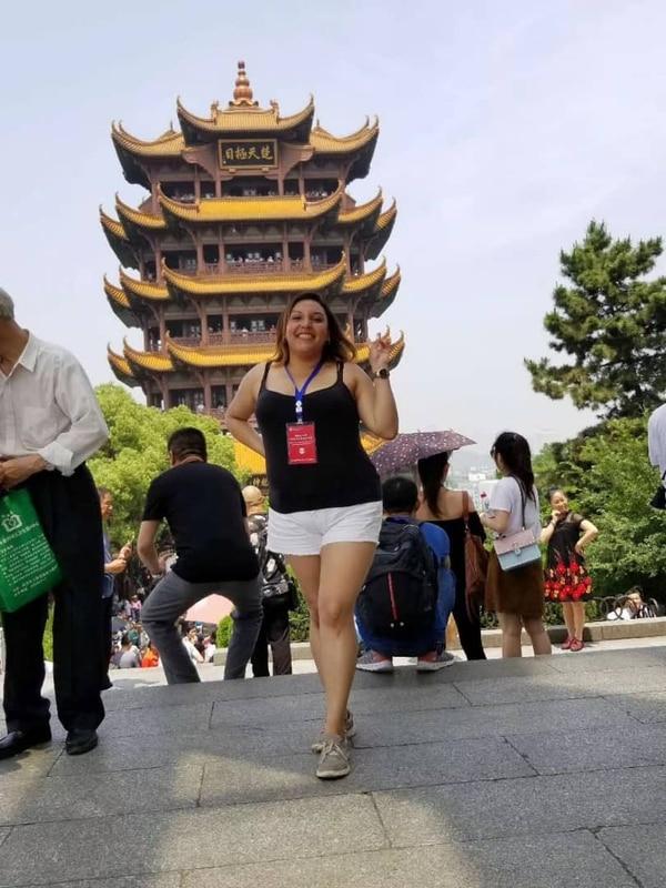 La costarricense Paola Reyes Pérez, de 34 años, vive en Wuhan, China. Cortesía