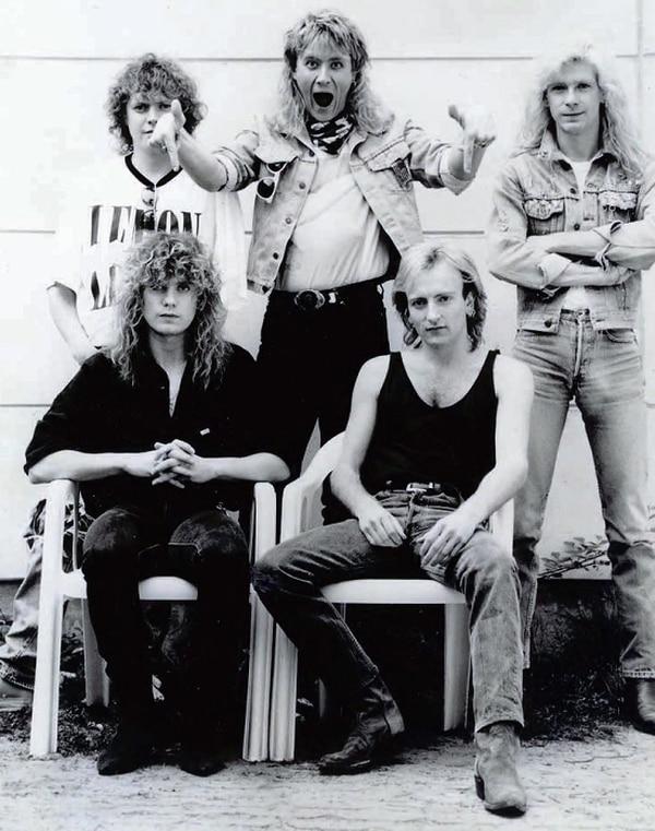 En los 80. Allen, Elliott, Clark, Savage y Collen en la era 'Hysteria'.