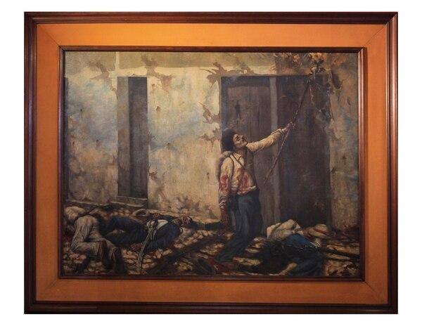 'La quema del Mesón' (1896), de Enrique Echandi, es uno de los íconos de la Colección del Museo Histórico Cultural Juan Santamaría, en Alajuela. Foto: Massiel Varela Piñeiros.