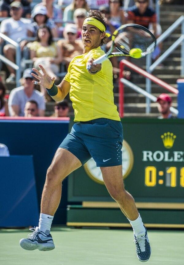 Rafael Nadal se acercó a Novak Djokovic (1) y a Andy Murray (2).