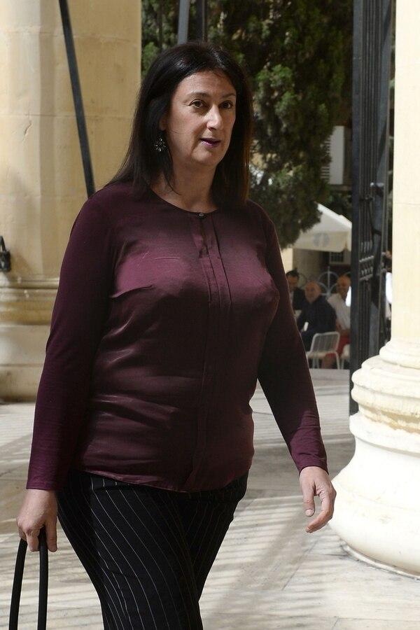 La periodista y bloguera Daphne Capuana cuando acudió el 27 de abril del 2017 a un tribunal en Malta.