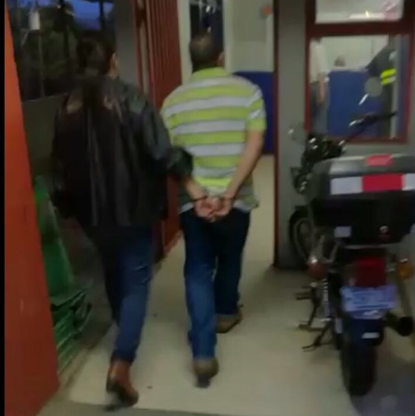 Agentes del OIJ detuvieron al finquero cerca de las 5:30 p. m. del 16 de setiembre.